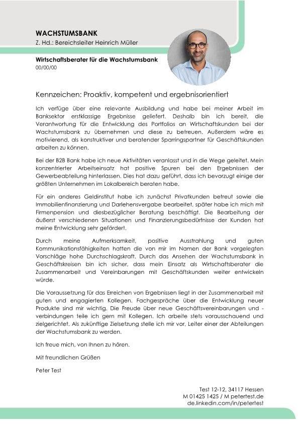 Bankberater m/w Geschäftskunden - CV & Bewerbung