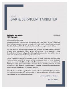 1 Bar- und Servicepersonal m_w