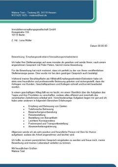 Empfangssekretär – Verwaltungsmitarbeiter m/w