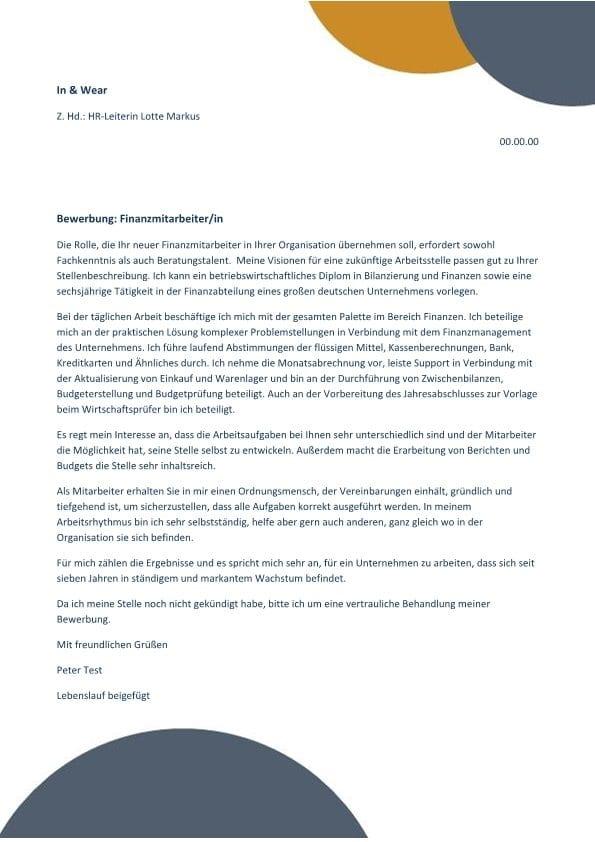 Finanzmitarbeiter/in, der/die beraten und entwickeln kann - CV ...