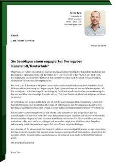 Formgeber m/w Kunststoff/Kautschuk