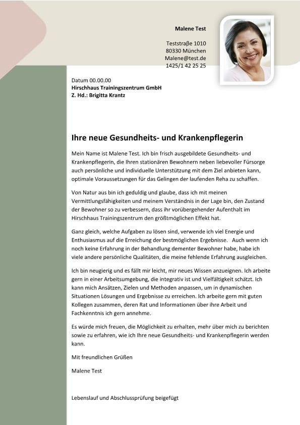 Pflegefachkraft m/w - CV & Bewerbung