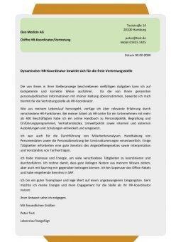 1 HR-Koordinator m/w Vertretung