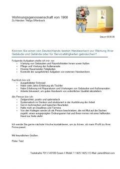 1 Handyman m_w fuer Wartung und Service