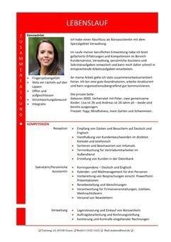 1 Hybrid-Lebenslauf-mit-Zusammenfassung-und-Fachkompetenzen-rot-2-Seiten