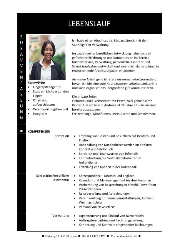 1 Hybrid-Lebenslauf-mit-Zusammenfassung-und-Fachkompetenzen-schwartz-2-Seiten