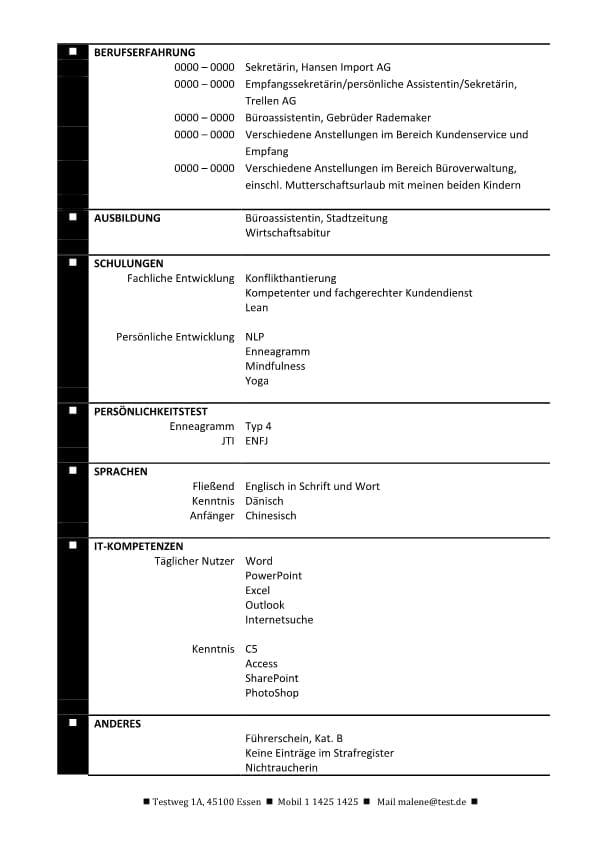 Hybrid - Lebenslauf mit Zusammenfassung und Fachkompetenzen ...