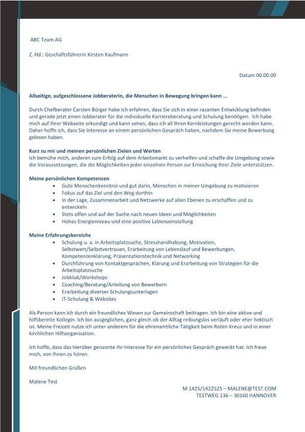 Jobberater m/w - Karriereberatung - CV & Bewerbung