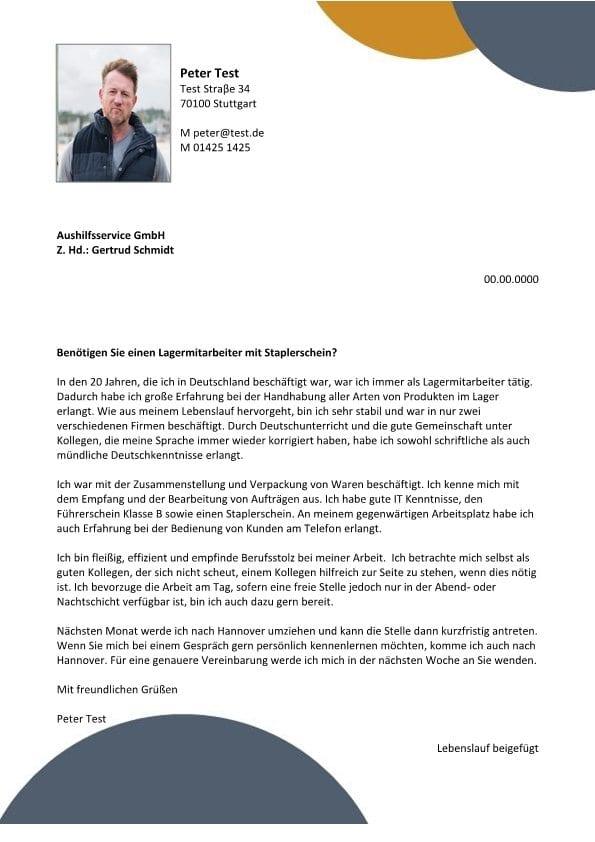 Lagermitarbeiter m/w mit Staplerschein   CV & Bewerbung