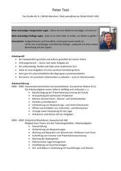 1 Lebenslauf-mit-Beurteilungen-und-Berufsprofil-Hausmeister-2-Seiten