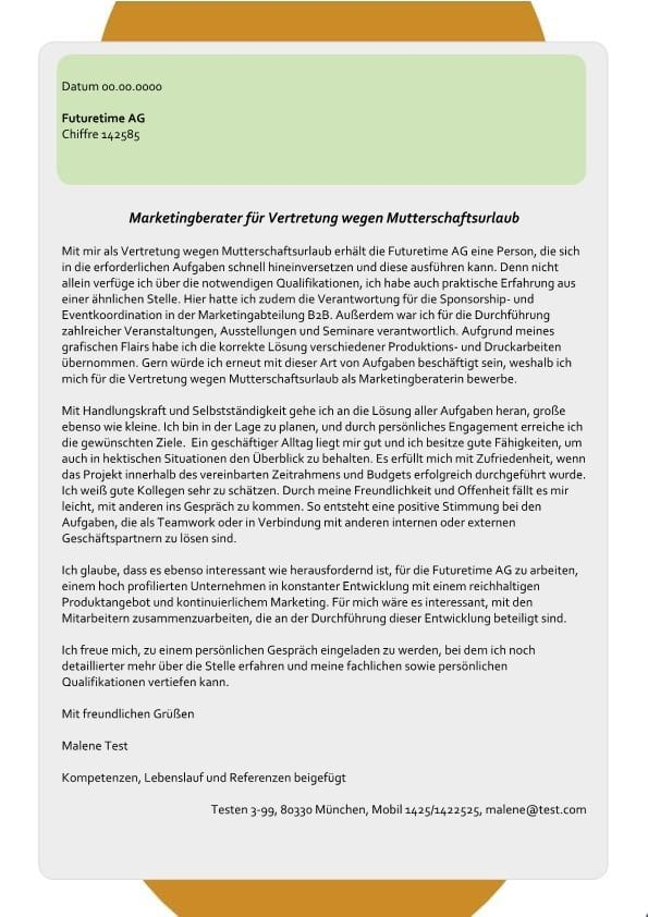 1 Marketingberater_in – Vertretung wegen Mutterschaftsurlaub
