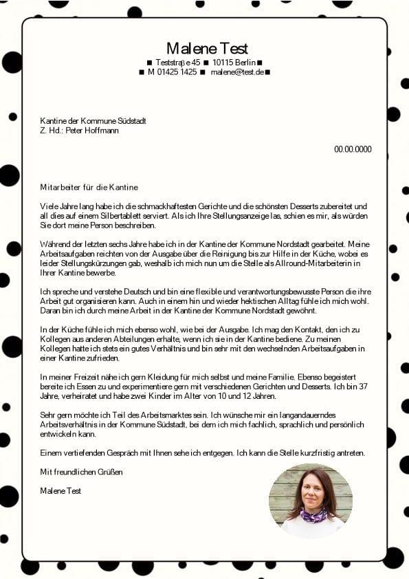 Mitarbeiter m/w Bedienung - CV & Bewerbung