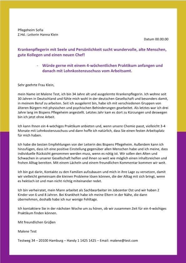 Pflegefachkraft m/w sucht Arbeit startet mit 4 wöchigen Praktikum ...