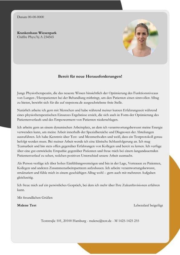 Physiotherapeut m/w - Reha von Herz- und Lungenpatienten - CV ...