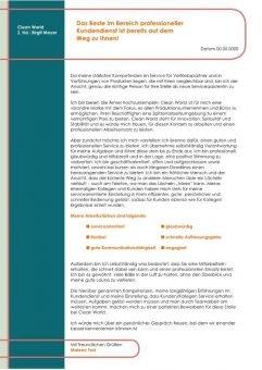 1 Servicekraft für Geschäftskundenservice