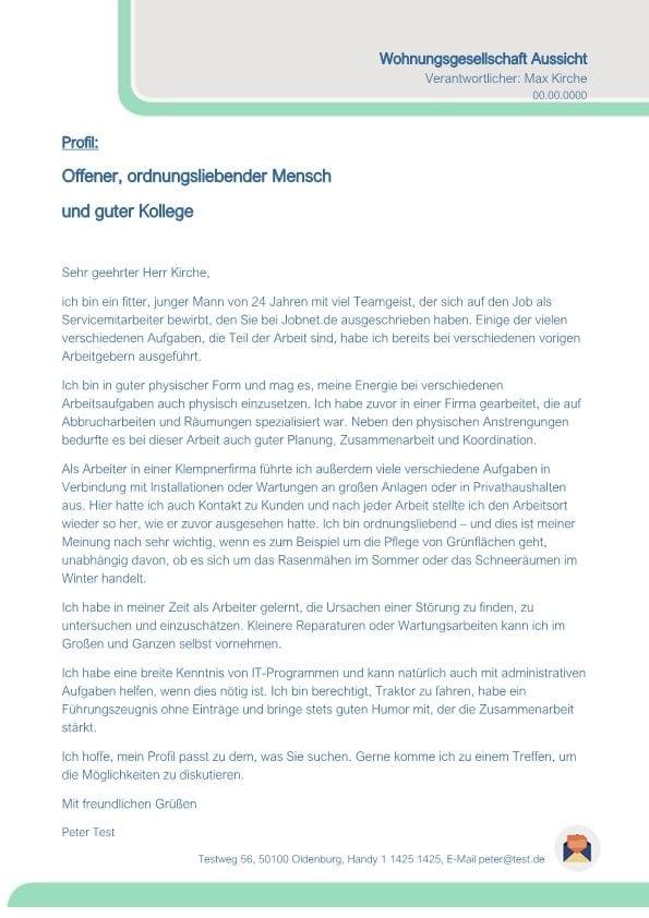 1 Servicemitarbeiterin m_w Wohnungsgesellschaft
