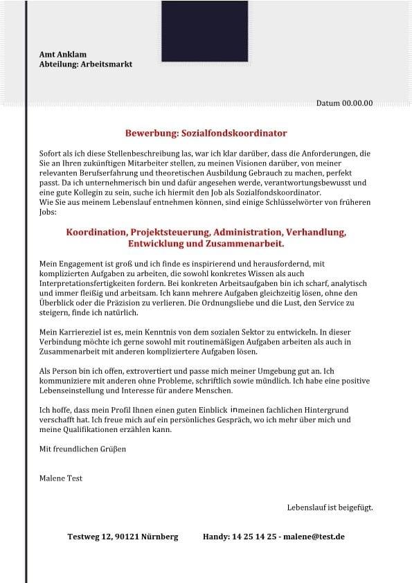 Sozialfondskoordinator m/w – scharf und analysierende