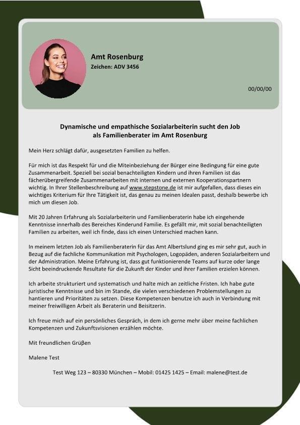 Sozialpädagoge-Sozialarbeiter m/w für Familien - CV & Bewerbung