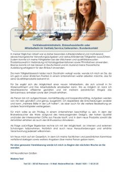 1 Vertriebsadministrator_in Lieferanten Kundenkontakt