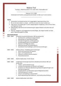 Lebenslauf Persönliche Assistentin - Sekretäring mit Profil 2 Seiten - Rot