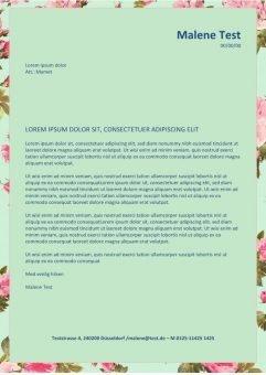 Bewerbung und CV-Layout-mit-Blumen-page1