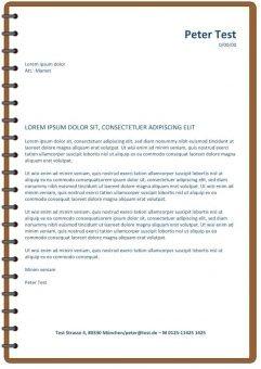 Bewerbung und CV Layout mit Spirale braun