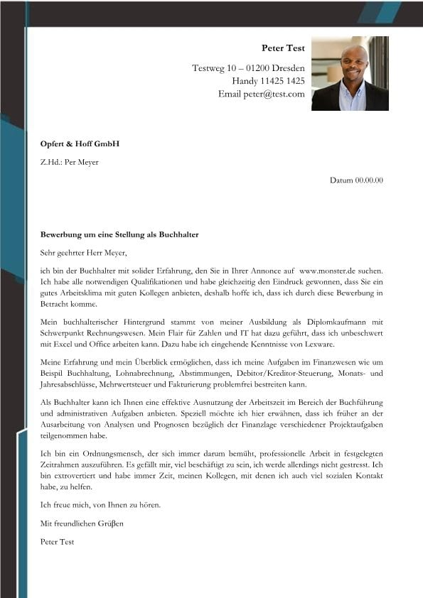 Buchhalter m/w - CV & Bewerbung