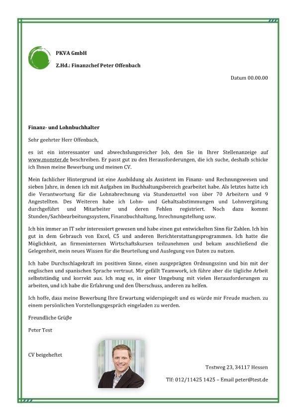 Finanz- und Lohnbuchhalter m/w - CV & Bewerbung