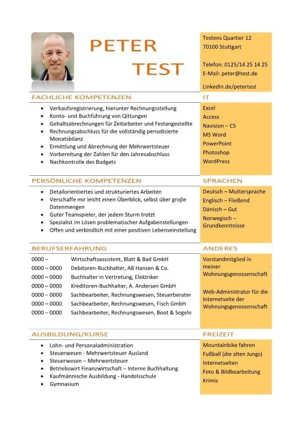 1 Lebenslauf-Kompetenz-mit-fachlichen-und-persönlichen-Kompetenzen-gelb