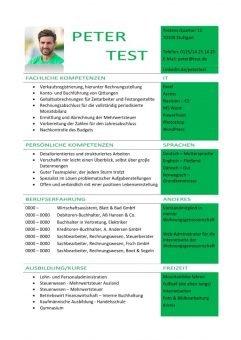 1 Lebenslauf-Kompetenz-mit-fachlichen-und-persönlichen-Kompetenzen-grün