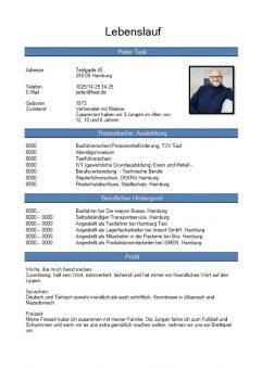 1 Lebenslauf-chronologisch-mit-Foto-blau