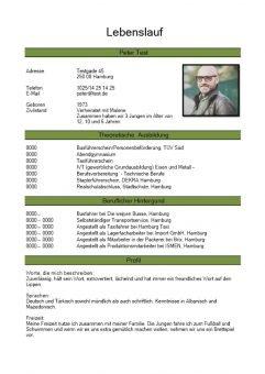 1 Lebenslauf-chronologisch-mit-Foto-grün