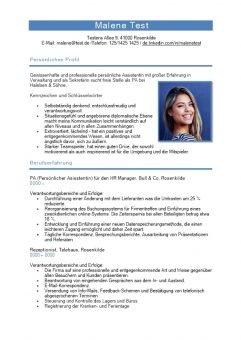 1 Lebenslauf-mit-persönlichen-Profil-Schlüsselwörtern