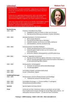 1 Lebenslauf-Chronologisch-Flexible-Arbeitstaetigkeit-rot