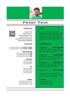 1 Lebenslauf-Vorlage-mit-QR-grün