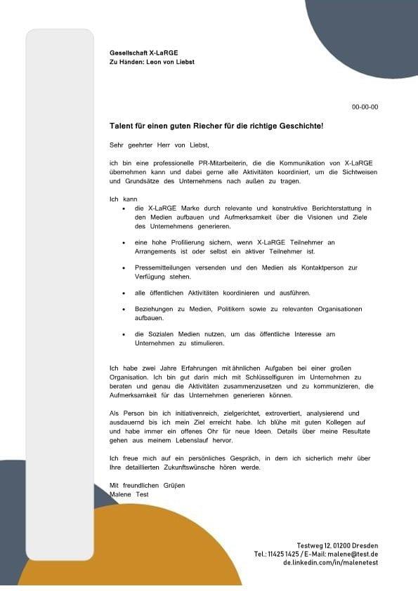 Kommunikations- und Projektmitarbeiter m/w - CV & Bewerbung