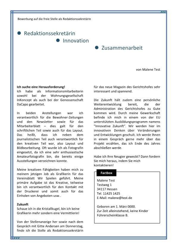 1 Redaktionssekretär m_w für Fachblatt