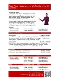 1 Vorlage-Lebenslauf-mit-Profil-in-tabellarischer-Form-rot