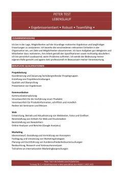 Lebenslauf Kompetenzen mit Berufsqualifikation rot-page1