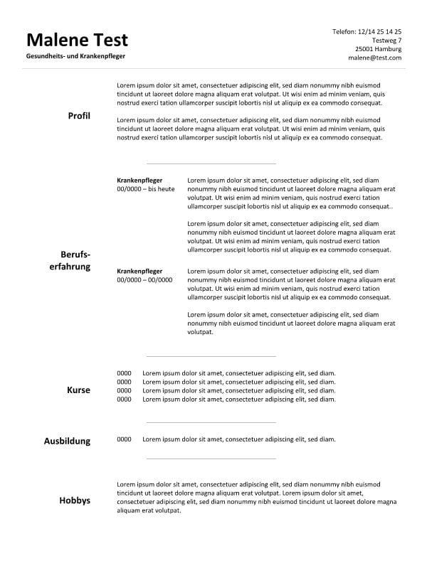 Lebenslauf Arkiv - CV & Bewerbung
