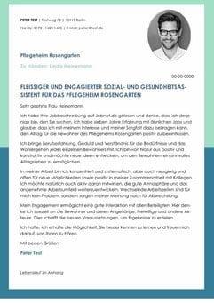 Fleissiger und engagierter Social- und Gesundheitsassistent - CV ...